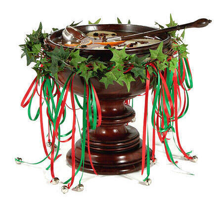 Decorated wassail bowl