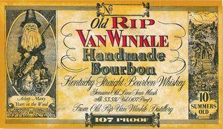 The label of Old Rip Van Winkle
